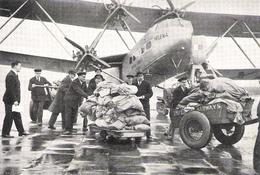 AVIATION AEROPOSTALE  AIR MAIL Arrivée à Londres Du Courrier De Capetown  1933 - Vieux Papiers