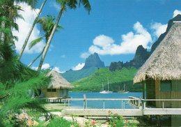 Tahiti - Baie De Cook , Vue Du Club Bali-Hai à Moorea ( Beaux Timbres) - Polynésie Française
