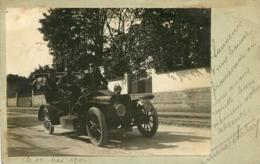 VITRY SUR SEINE  1906  CARTE PHOTO COLLEE VIEILLE AUTOMOBILE - Vitry Sur Seine