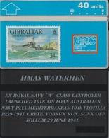 122/ Gibraltar; P20. HMAS Waterhen - Gibraltar