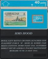 123/ Gibraltar; P22. HMS Hood - Gibraltar