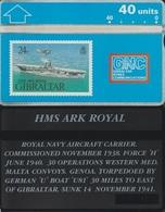 124/ Gibraltar; P23. HMS Ark Royal - Gibraltar