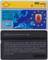 125/ Gibraltar, P24. Gibraltar In The EEC, 40 Ut.; 308A - Gibraltar