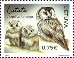 2020 Lithuania Red Book Of Lithuania Endengered Fauna Owls MNH** MI 1323 The Tengmalm's Owl - Litauen