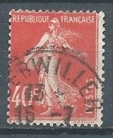 France YT N°194 Semeuse Fond Plein Oblitéré ° - 1906-38 Sower - Cameo