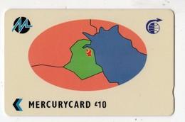 KOWEIT REF MV CARDS KWT10 MERCURYCARD 10£ MAP OF KOWEIT CN 25MERA Date 1991 - Kuwait