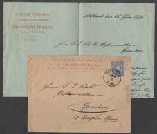 ALTKIRCH - ALSACE / 1876 LETTRE A ENTETE POUR LA SUISSE (ref 3535) - Alsace-Lorraine