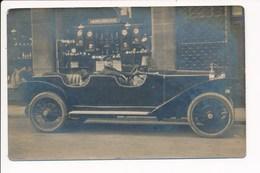 Carte Photo Ancienne Voiture Auto à Identifier / Horlogerie à Localiser (devanture / Horloger) Bouchon De Radiateur - Cartoline