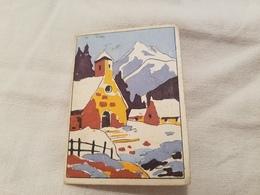 Petit Almanach 1946 Calendrier Illustre  Eglise Montagne Cime - Calendriers