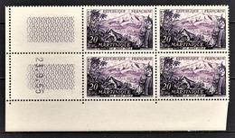 FRANCE 1955 - BLOC DE 4 TP NEUF** Y.T. N° 1041 - COIN DE FEUILLE / DATE - 1950-1959