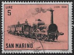 San Marino SG759 1964 Story Of The Locomotive 5l Good/fine Used [40/33172/7D] - San Marino