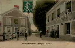 VILLEGAST...DOLT,EPICERIE TABACS...CARREFOUR....CPA ANIMEE - France