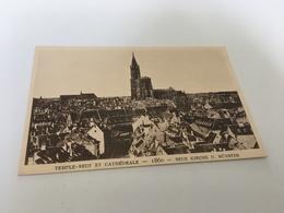 AF - 6 - Le Strasbourg Disparu - Temple-Neuf Et Cathédrale 1860 - Strasbourg