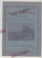 Fixe Petit Horaire Bourges Cher 1928-29 Tarif Postal Publicité Chemins De Fer Autobus Pour Région Excellent état - Europe