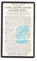 DP Rachel J. Debyser ° Poperinge 1880 † 1922 X Maurice Braet - Devotion Images
