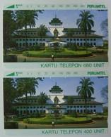 INDONESIA - Tamura - Set Of 2 - 400 & 680 Units - Perumtel - Used - Indonesien