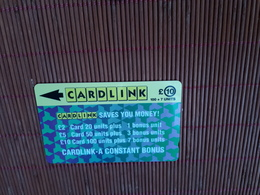 Cardlink Phonecard 2CLKC Used Only 10.000 EX. Low Issue Rare - Ver. Königreich