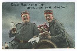 Landsturm-Batl. Dillingen 1. Kompagnie Mundolsheim 1916 Volles Faß, Edles Naß - War 1914-18