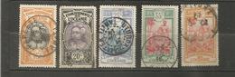 5 Timbres Oblitérés       (clasyveroug29) - Océanie (Établissement De L') (1892-1958)