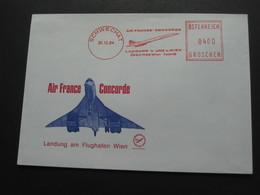 Enveloppe AIR FRANCE CONCORDE - Landung Am Flughafen WIEN    **** EN ACHAT IMMEDIAT **** - Luchtpost