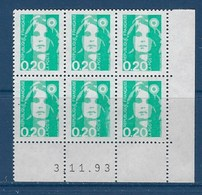 "FR Coins Datés YT 2618 "" Briat 20c. émeraude "" Neuf** Du 5.6.96 - 1990-1999"