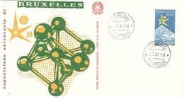 12.VI.58 ESPOSIZIONE UNIVERSALE BRUXELLES - 1958 – Brussels (Belgium)