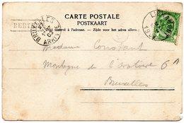Griffe Linéaire BERTRIX Sur CV Vers Bruxelles Via Libramont - Postmark Collection