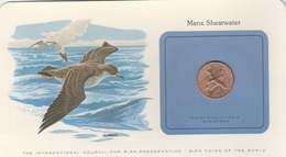 BIRD COINS OF THE WORLD - PIECES D OISEAUX - TWO PENCE - MANX SHEARWATER - PUFFIN DES ANGLAIS -1979 - Isle Of Man