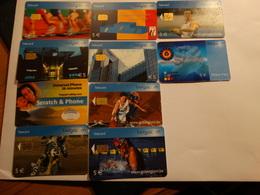 Lot De 10 Cartes De Téléphone Prépayées. - Tarjetas Telefónicas