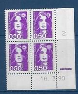 "FR Coins Datés YT 2619 "" Briat 50c. Violet "" Neuf** Du 16.3.90 - 1990-1999"