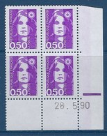 "FR Coins Datés YT 2619 "" Briat 50c. Violet "" Neuf** Du 28.5.90 - 1990-1999"
