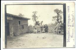 GRADOBOR ( Pentalofos ) Environs - Macedonia - War 1917 - Old Photocard FERME - FEMME Au Rouet - PHOTOCARD - Macedonia