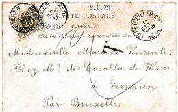 CV Non-affranchie Expédiée De Liège (Guillemins) Et Taxée à L'arrivée à TERVUEREN (TX6) - Postage Due