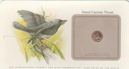BIRD COINS OF THE WORLD - PIECE D OISEAUX  - 1 - GRAND CAYMAN THRUSH - Merle De Grande Caïman - 1979 - East Caribbean States