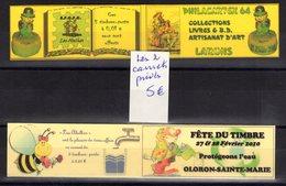 2 Carnets Prives Marianne Jumelet Et Beaujard Fete Du Timbre Et Expo Philatelique - Carnets