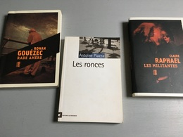 3 Livres Des Éditions Du Rouergue : R. Gouézec, Rade Amère / C. Raphaël, Les Militantes & A. Piazza, Les Ronces (2017-20 - Paquete De Libros