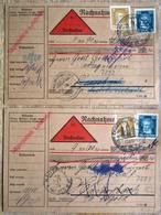 DR Weimar 2 Nachnahmekarten Mi.Nr. 386,392 Als MIF SST Tettnang Nach Pfalzgrafenweiler + Haiterbach - Storia Postale