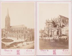 CAEN (Calvados) - Lot De 4 Photographies Portrait Album Karren 11, Rue Notre-Dame Paulmier Levrard Photographie Carton - Orte