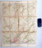 ©1865 GEMBLOUX CARTE ETAT MAJOR Entoillée ERNAGE WALHAIN ST-PAUL SAUVENIERE TOURINNES-SAINT-LAMBERT PERBAIS ORBAIS Z963 - Gembloux