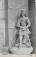 Autun - Eglise Notre Dame : Statue De St Crépinien - Cachet Poste 17 Mai 1912 - Autun