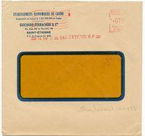 EMA 1955 LOIRE ST ETIENNE MACHINE DE REMPLACEMENT SCW032 DE CASINO GUICHARD ET PERRACHON - Marcophilie (Lettres)