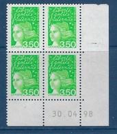 "FR Coins Datés YT 3092b "" Luquet 3F50 Vert-jaune 2 Bdes Phosphore "" Neuf** Du 30.04.98 - 1990-1999"
