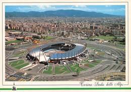"010653 ""TORINO -  PANORAMA E STADIO DELLE ALPI"" FOTO GENINATTI. CART NON SPED - Stadiums & Sporting Infrastructures"