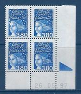 """FR Coins Datés YT 3093 """" Luquet 3F80 Bleu """" Neuf** Du 26.05.97 - 1990-1999"""