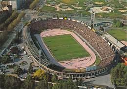 "010654 ""TORINO -  VEDUTA AEREO DELLO STADIO"" ANIMATA, AUTO. CART NON SPED - Stadiums & Sporting Infrastructures"