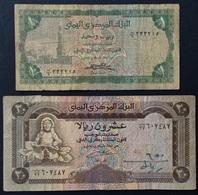 EM0505 -Yemen 1 & 20 Rials Banknotes - Yemen