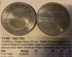 GIAPPONE Japan  500 YEN  1986Y#90 D.107 - Japón