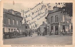 SAINT PIERRE DES FLEURS - Le Carrefour - Route Du Neubourg - Route De Brionne -Café Du Lion D'Or - France