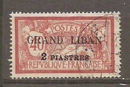G-L - Yt. N° 10 (o) 2pi S 40c  Cote  4 Euro  BE 2 Scans - Gross-Libanon (1924-1945)