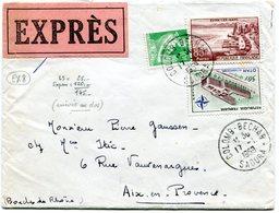 ALGERIE De COLOMB BECHAR Env. Du 17/01/1959 Tarif EXPRES à 145F Pour AIX EN PROVENCE - Marcophilie (Lettres)